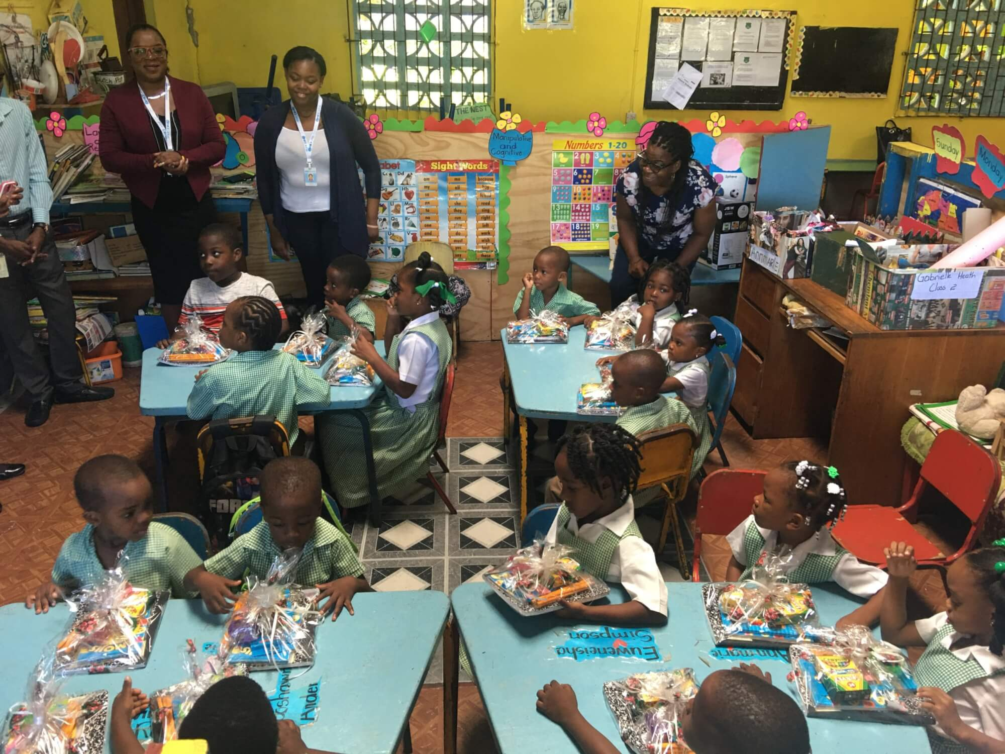 NICE Global visits Rodlyn Fisher Basic School